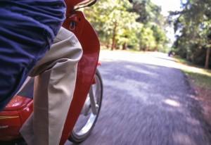 Unterwegs per Motorroller zu den Tempeln von Angkor
