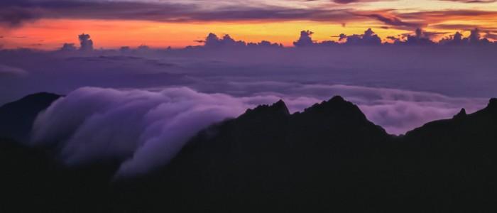 Morgenstimmung auf dem Mount Kinabalu