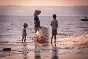 Fischer, Kinder, Netze