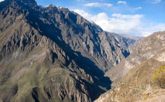 Blick hinunter in den Colca Canyon