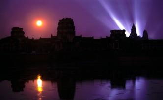 Angkor Wat bei Vollmond