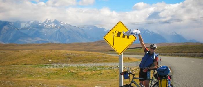 Windmessung vor den Southern Alps