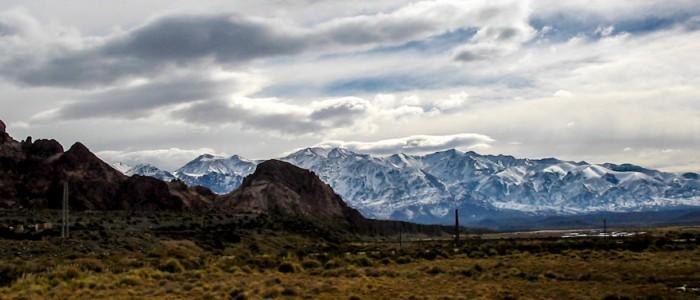 Andenüberfahrt mit Blick Richtung Aconcagua